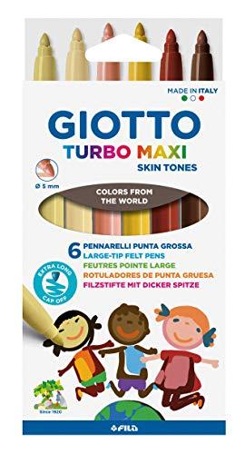 Giotto, TURBO MAXI SKIN TONES - colori della pelle - 6 PZ, (F527000)