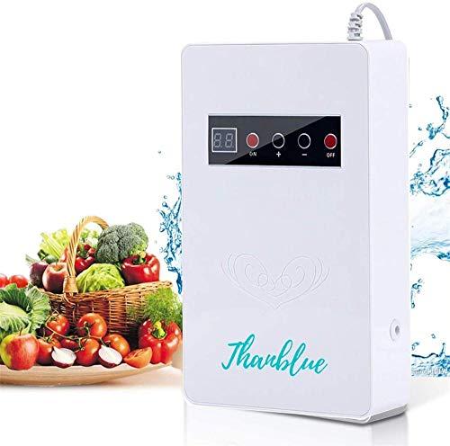 Ozonizador De Agua, Generador De Ozono Portátil con Temporizador Digital + Disolución Rápida + Desinfecta Agua Verduras Frutas, para Cocina Lavandería Baño Armario Refrigerador Acuario Jardín