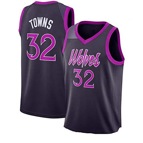 WLY # 32 Timberwolves Towns Jersey de Baloncesto Jersey Bordado, Ropa de Entrenamiento de Verano para Hombres y Mujeres-XL