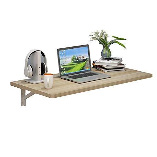 Laptopstandaard voor bureau, inklapbare wandtafel, inklapbare wand-eettafel, kleine familie, meerdere optionele veelzijdig, notenhout licht 100 x 40 cm licht Walnut