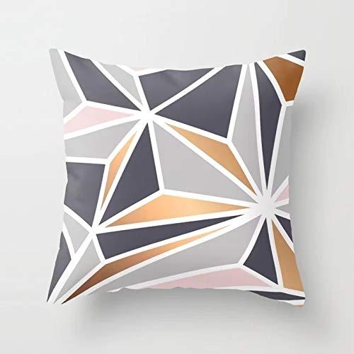 PPMP Funda de Almohada Rosa, Funda de cojín Flora de Forma geométrica, Utilizada para la decoración del sofá del hogar, Funda de Almohada, Funda de cojín A2, 45x45 cm, 2pcs