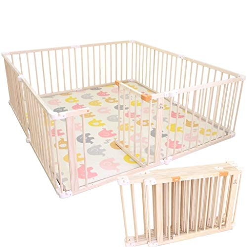For Sale! YZHL-Guardrail Children Fence Safety Box for Children Large Wooden with gate - Toddlers Ba...