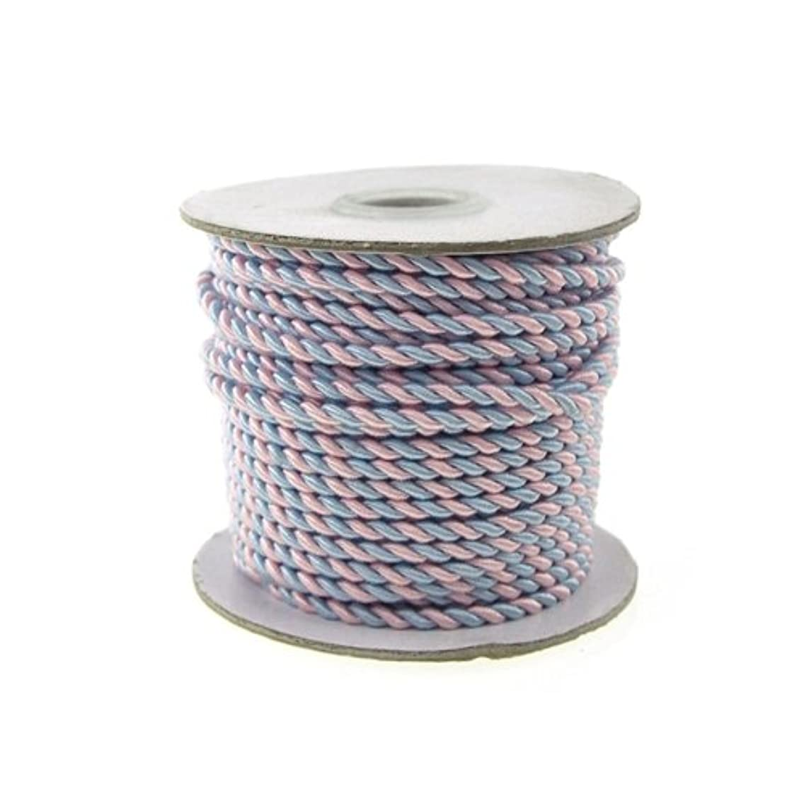 Homeford Firefly Imports Twisted Cord Rope 2-Ply, 3mm, 25 Yards, Pastel, Blue/Pink,