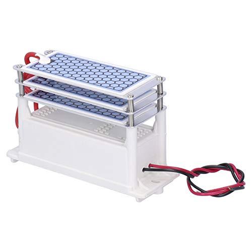 Jeanoko Placa ozono placa cerámica ozonizador 15G ozono generador purificador para lavavajillas para filtros de aire (AC110V)