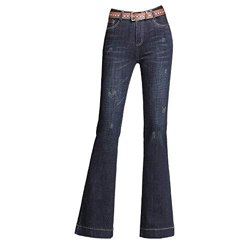 YSZDM winterbroek van microvezel, hoge taille voor vrouwen het beste fluweel jeans vrouwen verdikt de vrouwen dun, blauw, 3XL