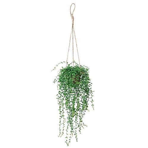 人工観葉植物 グリーンネックレスハンギング 高さ35cm fz125 (代引き不可) インテリアグリーン 造花