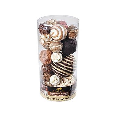 Lerman Decor WBF113 Decorative Bowl Filler, Chocolate Brown