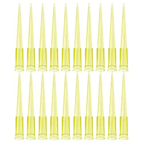 Scicalife 1000 Piezas Puntas de Pipeta Universales Puntas de Pipeta Líquido 200Ul Plástico Amarillo Boquilla de Transferencia de Líquido Accesorios