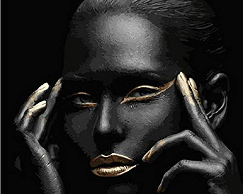 Dingsheng DIY pintura al óleo para adultos africana maquillaje niña número elefante...