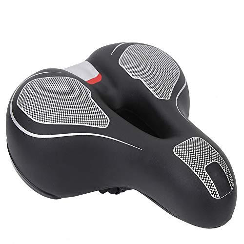 Yyqtgg Sillín de Bicicleta Suave, cojín de sillín de Bicicleta Negro Almohadilla de Silicona Resistente al Desgaste y Resistente al Agua Aligera el sillín Hecho de PU + Metal + Silicona