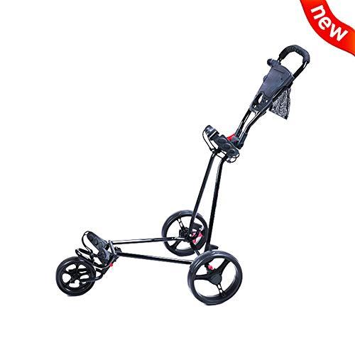 3 Wiel Golf Push Cart, 2020 New Golf Push Cart One Second To Openen En Sluiten, Opvouwbare Golf Trolley, Lichtgewicht Golf Cart