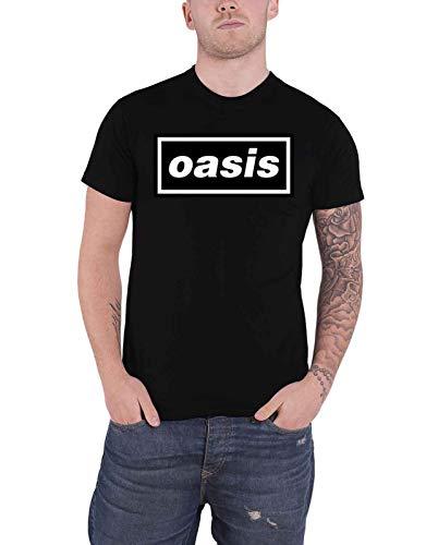 Oasis T Shirt Decca Logo Nouveau Officiel Homme Noir Size XXL