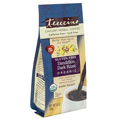Teeccino - Dark Roast Caffeine Free Dandelion Coffee Original - 10 oz.