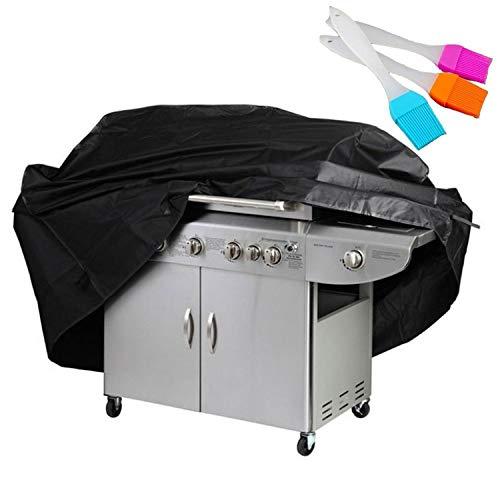 Rechoo BBQ Grillabdeckung, Grill-Abdeckhaube Schutzhuelle Haube Wetterschutzabdeckung BBQ Cover für Grill Smoke Barbecue Gasgrill Schwarz (XL)