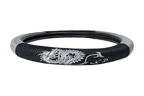 CLA Dragon Mesh Steering Wheel Cover - Gray