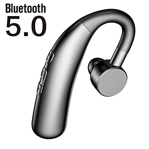 BluetoothヘッドセットBluetooth 5.0 イヤホン ワイヤレスイヤホン 左右耳兼用 片耳 装着感 180°回転 最高音質 ノイズキャンセリング マイク内蔵 耳掛け型 超長待機 48時間連続使用 IPX7防水 iPhone&Android対応