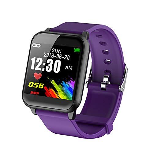 ZEIYUQI Reloj Inteligente para Mujeres Compatible con Android,Monitorización De La Salud Fídica,Deportes,Fitness,Pulsera,Podómetro,Resistente Al Agua,Reloj Inteligente,Purple
