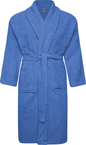 Adore Home Frottee Bademantel 100% Baumwolle für Damen & Herren - L, Hellblau