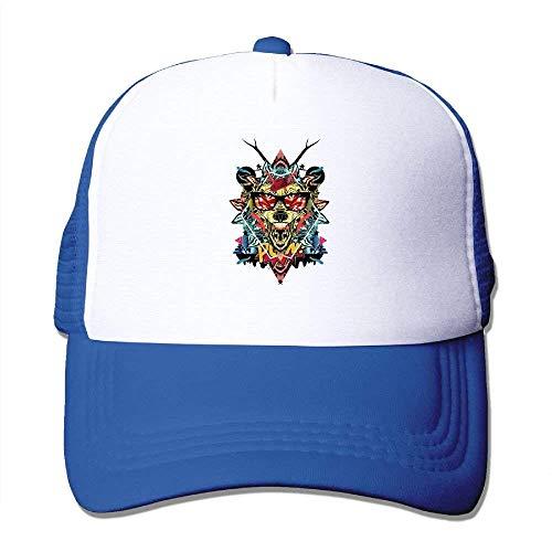 Color Animal Head Print Ajustable Camionero Sombreros para...