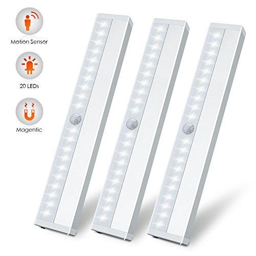 Oplaadbare led-lamp, draagbaar, klein licht, 10 leds, draadloze undercabinet verlichting met ingebouwde oplaadbare batterij, overal op te plakken, magnetische nachtlamp voor kast, keuken