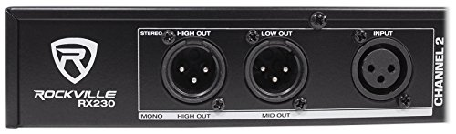Rockville RX230 2 Stereo / 3 Way Mono Crossover with XLR Input and Output