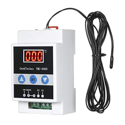 XZANTE Tmc-6000 110-240V Termorregulador de Carril Guía Controlador de Temperatura Digital Termostato Control de Temperatura de Calentamiento Refrigeración