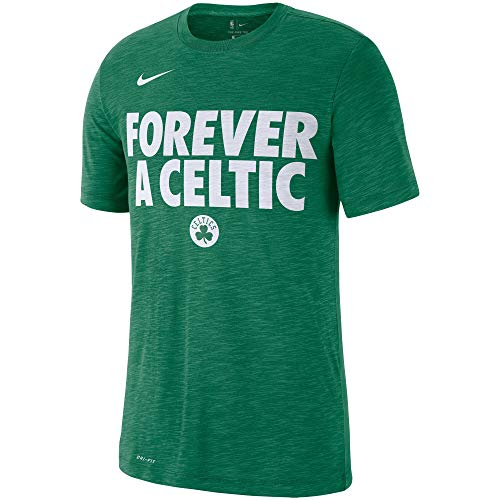 Nike Boston Celtics Essential Team Attitude Performance T-Shirt - Heathered Kelly Green (Large)