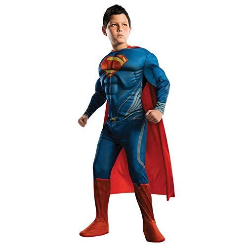 YBINGA Disfraces de cosplay para nios, disfraz de Superman de Navidad para nios, nios, superhroes, pelcula de hombre, cosplay, disfraz de adulto (tamao: M, fuente: Superman)