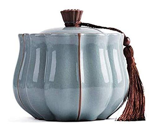 縦断勾配 Urne füR Asche Erwachsenen Asche Kleine Andenken Funeral Urn Keramik Urnen Menschliche Pet Asche Passt Eine Kleine Menge Cremated Remains 1103 (Size : 17x13cm)