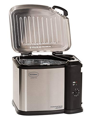 Masterbuilt MB23012418 Butterball XL Electric Fryer, Gray (Renewed)