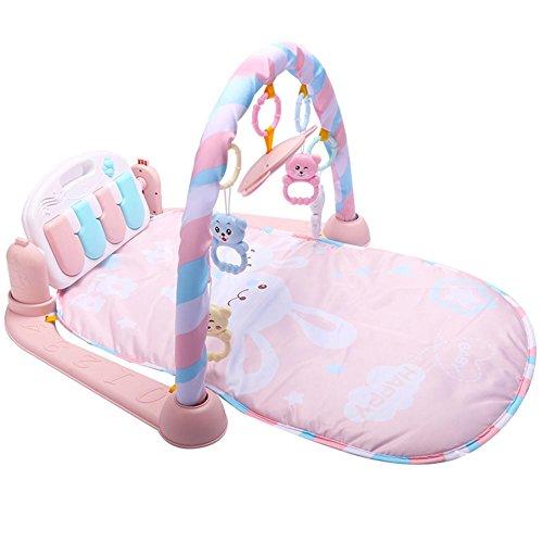 waysad Gimnasio Bebes Piano Manta De Juego para Bebes Recien Nacidos Multifuncional Suave...