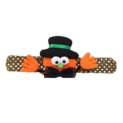 KHHGTYFYTFTY Pulsera Luminoso LED Parpadeante de Halloween Banda para la muñeca de Calabaza para la decoración