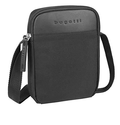 Bugatti Horizon Kleine Umhängetasche für Damen und Herren, Unisex Schultertasche Messenger Bag Kuriertasche, Schwarz