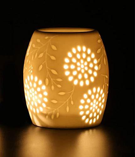 Mayco Bell Cereal Tealight Holder Quemador de Aceite Esencial Aromaterapia Cera Vela Torte Quemador Calentador Difusor (1003)