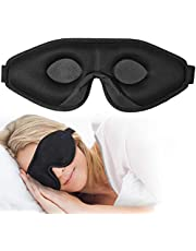 OriHea Sömnmask för kvinnor och män, 3D komfort ultramjuk premium ögonmask för sömn, blockera ljus 100 % ögonskuggsskydd, justerbar ögonbindel av silke skum, resor/tupplurar/yoga/plan/natt