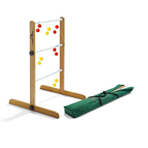Ladder Golf Brand - Single Ladder Ball Game - Single Game Ladder - with Red + Yellow Bolas and a Heavy Duty Carrying Case and Official Rules - The Original Ladder Toss Game Since 2003