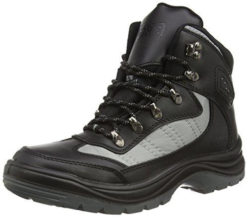 Scarpe antinfortunistiche PROTEQ Zircon S1P, Scarpe di sicurezza Unisex adulto, 44, nero (nero)