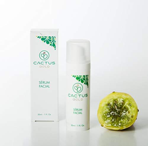 Serum facial de Noche con Aceite de Opuntia | Contiene aceite de semilla de higo Chumbo | Cactus Gold | 30 ml