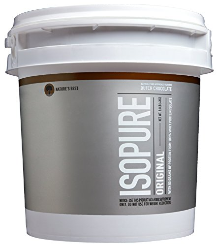 Isopure Original Protein Powder, Vitamin C and Zinc for Immune Support, 100% Whey Protein Isolate, Flavor: Dutch Chocolate, 8.8 Pounds (Packaging May Vary)
