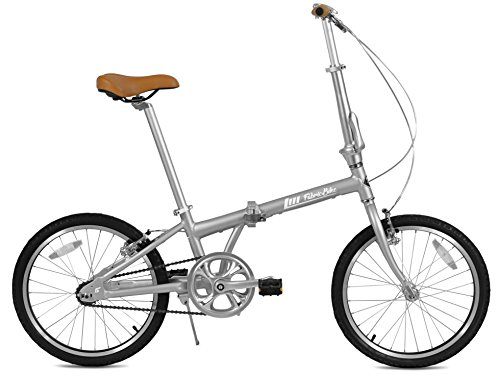 FabricBike Folding Bicicleta Plegable Cuadro Aluminio Ruedas 20' 3 Colores (Space Grey & Black)