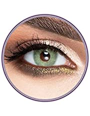 Unisex Luminous Contact Lenses, Luminous Green, Cosmetic Contact Lenses, Yearly Disposable, Green Color
