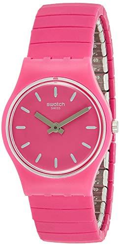 Swatch Reloj Analogico para Mujer de Cuarzo con Correa en Acero Inoxidable LP149B