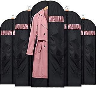 HOUSE DAY Bolsas de Ropa para el día de la casa, 5 Unidades, 152,4 cm, Lavables, para Vestidos, Trajes, Abrigos, Color Negro