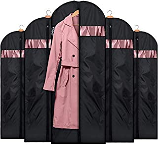 HOUSE DAY Garment Bags for Storage(5 Pack 60 inch) Garment Bags for Travel Lightweight Oxford Fabric Suit Bag for Storage and Travel,Closet,Washable Suit Cover for Dresses,Suits,Coats