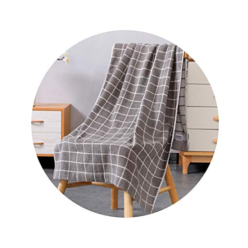 Siskey pure cotton bath towels absorb water and do not shed hair, fluffy and skin-friendly bath towels,two colors are available.(Gray)
