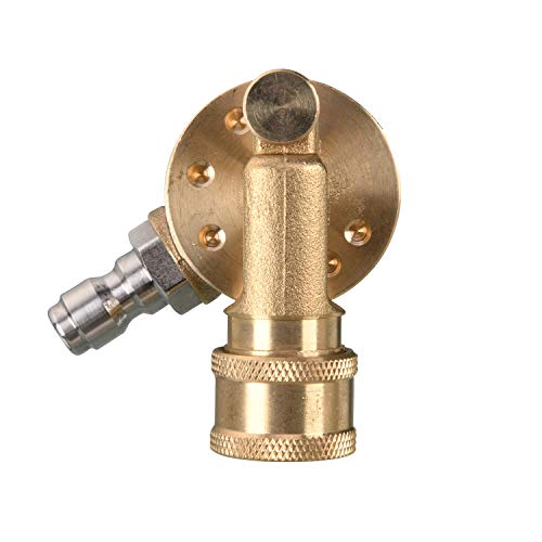 Tool Daily Pivoting Coupler for Pressure Washer Tips, Gutter Cleaner Attachment, 1/4 Inch Quick Disconnect, 240 Degree, 4500 PSI