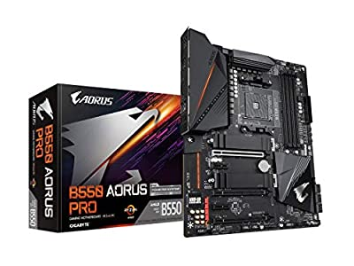 GIGABYTE B550 AORUS PRO (AM4 AMD/B550/ATX/Dual M.2/ SATA 6Gb/s/USB 3.2 Gen 2/2.5 GbE LAN/ALC1220-VB/RGB Fusion 2.0/PCIe4/DDR4/Gaming Motherboard)