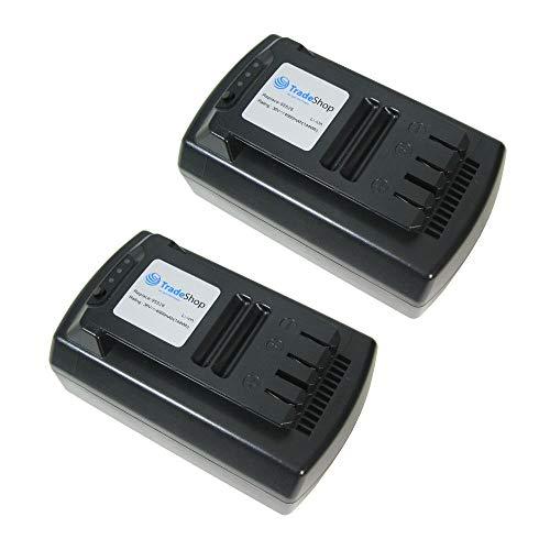 2x Premium Li-Ion Akku 36V / 4000mAh / 108Wh ersetzt Güde 95526 95543 passend für Akku-Rasenmäher 370/36 95540/95650, Akku-Rasenmäher 430/36 95545/95655, Kettensäge 300/36 95680/95660, Freischneider