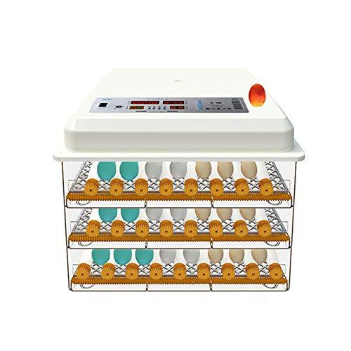 ZMXZMQ Eier-incubator, volautomatisch, digitaal, incubator, met digitale luchtcirculatie, met automatische verplaatsing van eieren, voor kippen, eenden, versnellingen, 152 eieren + Dual Power