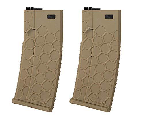 WG ZWEIERPACK - Polymer MID-Cap Magazin für M4 / AR-15, tan - Vorteilspack/Zweierpack Style 2…